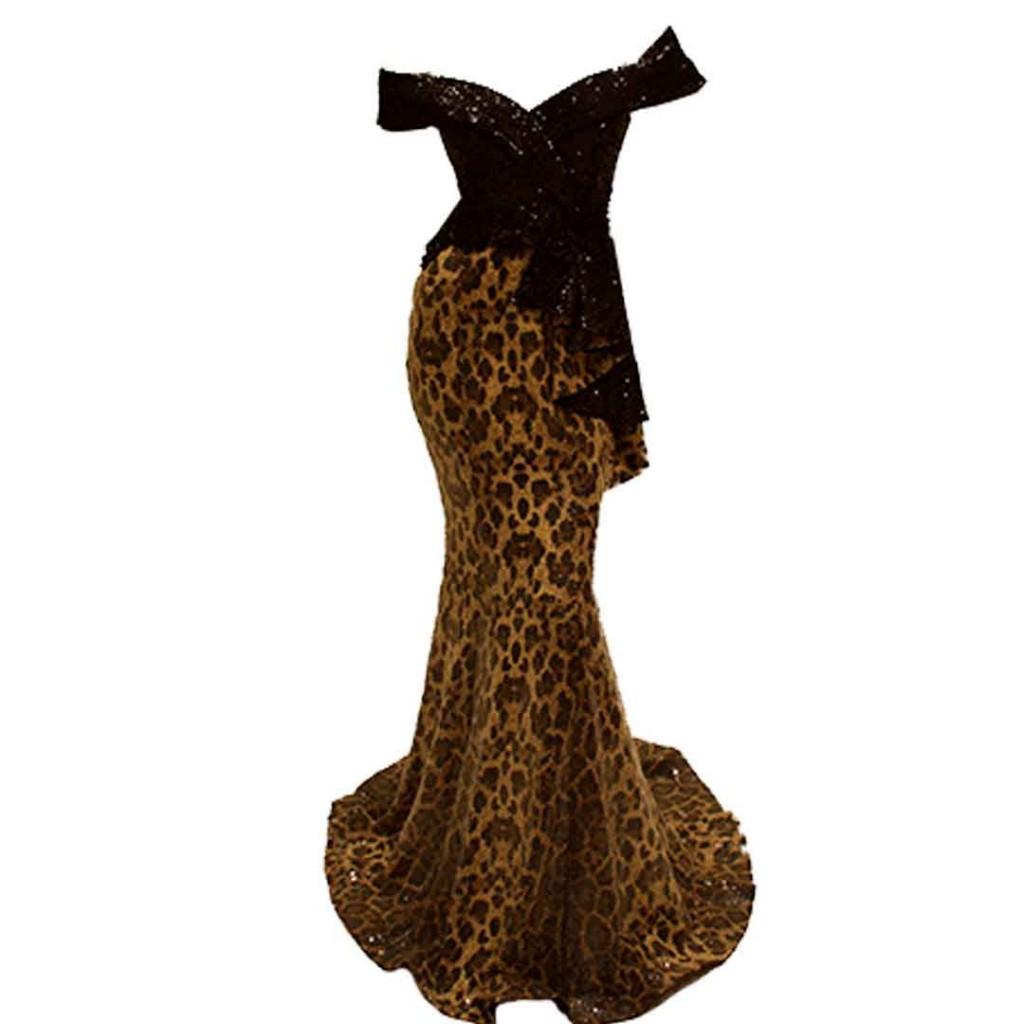 فستان لحمي نمري ترتر