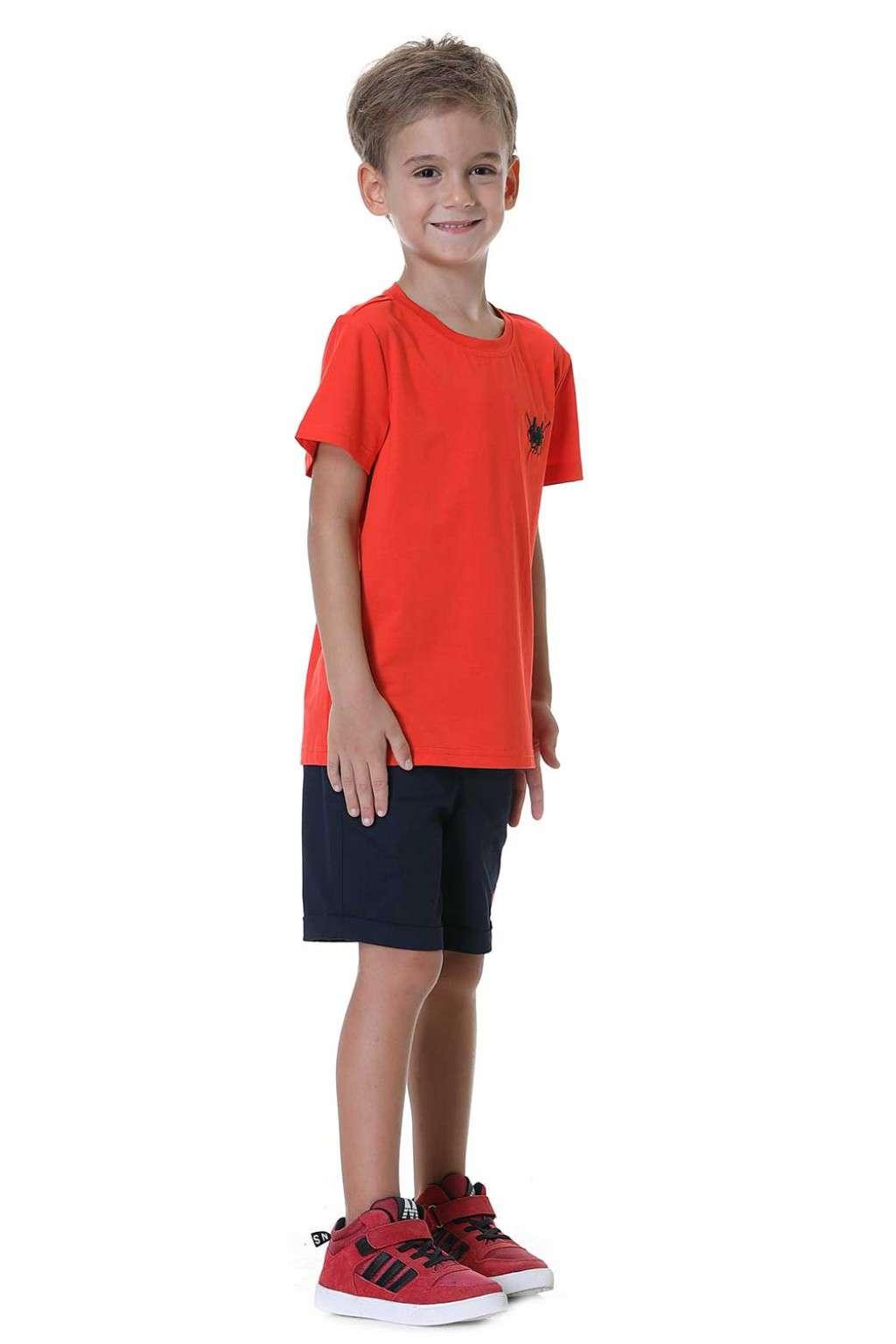 تيشيرت اولاد برتقالي
