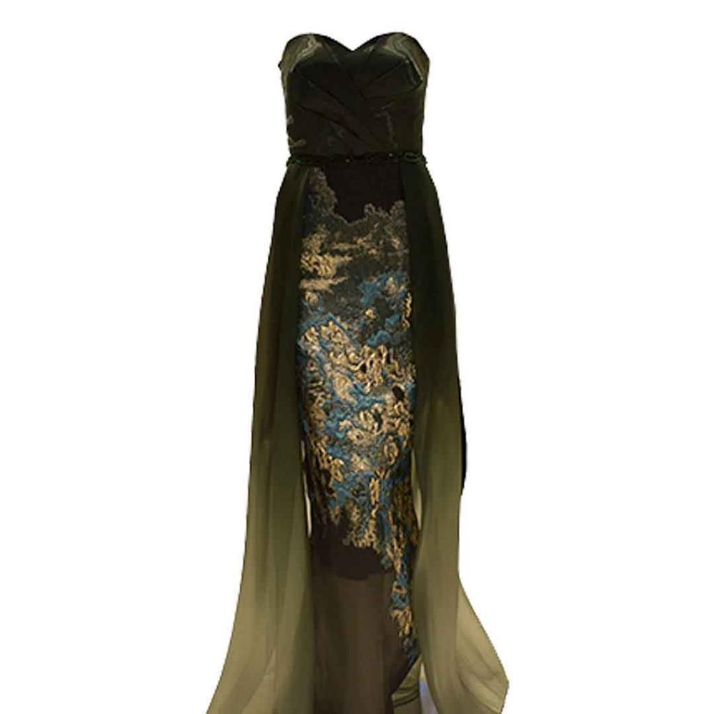 فستان اورقنزا حزام شك تنورة مشجر