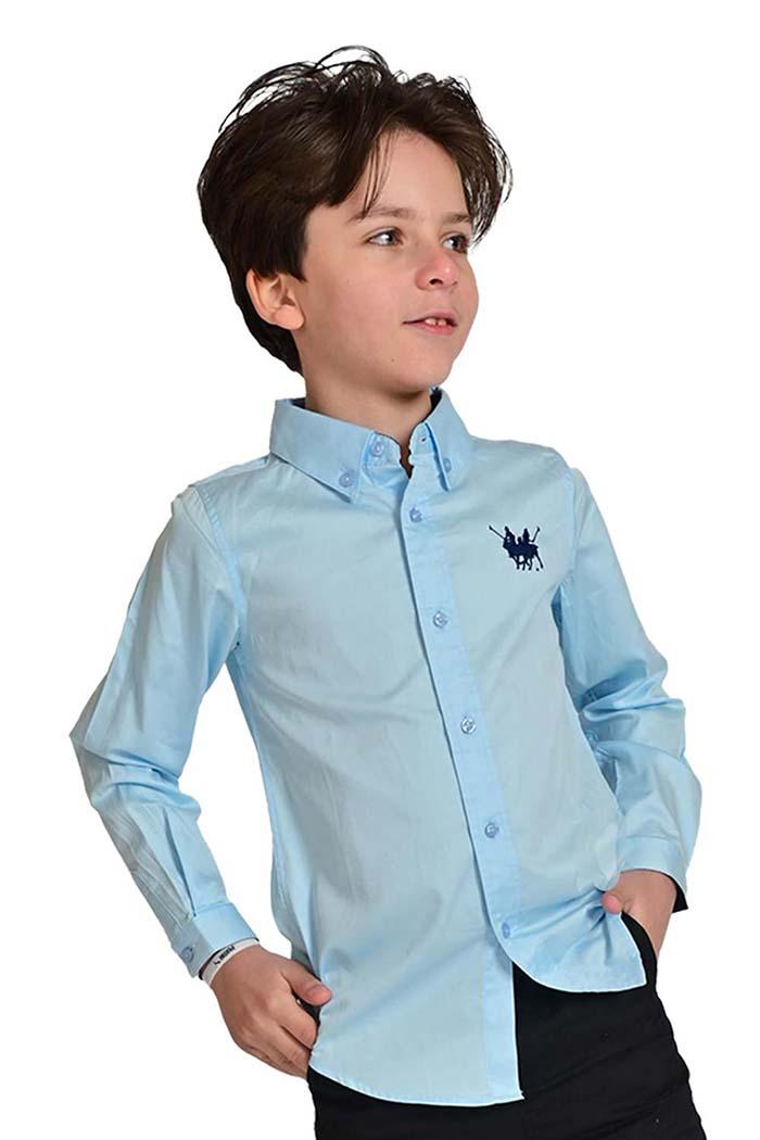 قميص اولاد لون ازرق