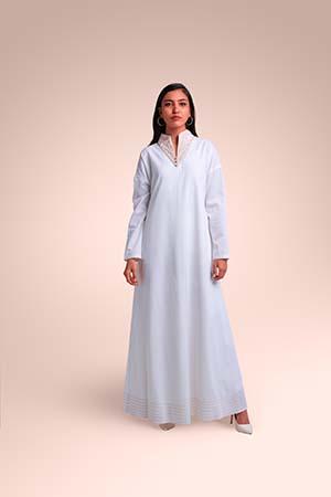 ثوب من  قماش الحرير المغسول مستوحاة من منطقة عسير