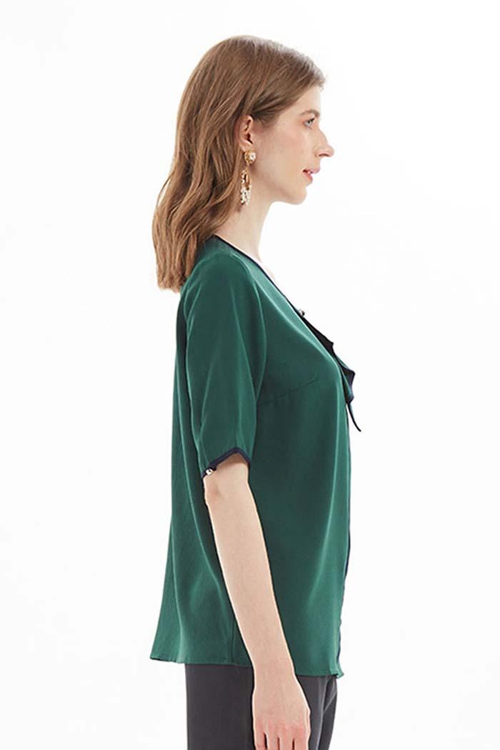 بلوزة نسائي لون اخضر زيتوني