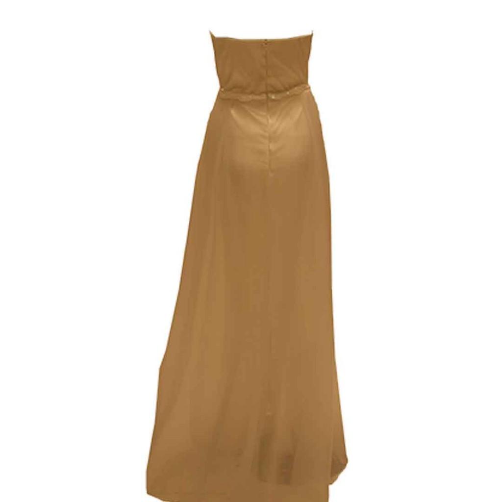 فستان  سكري اورقنزا دانتيل وسط