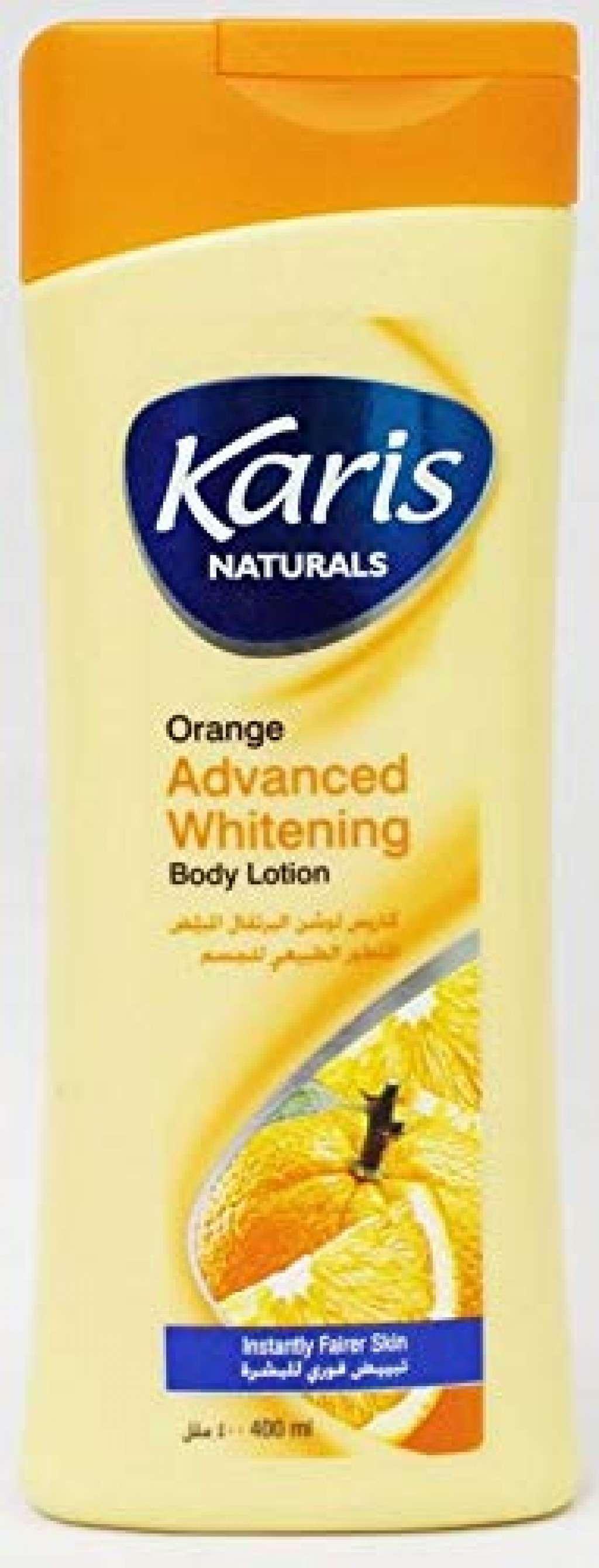 لوشن البرتقال المبيض المتطور الطبيعي للجسم - كاريس