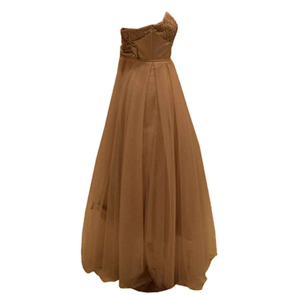 فستان لحمي تل صدر دانتيل