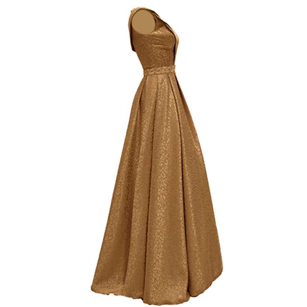 فستان بيج حزام شك طويل من الامام