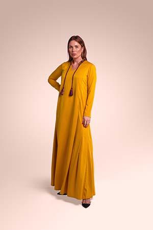 ثوب من قماش الكريب مستوحاة من الحجاز