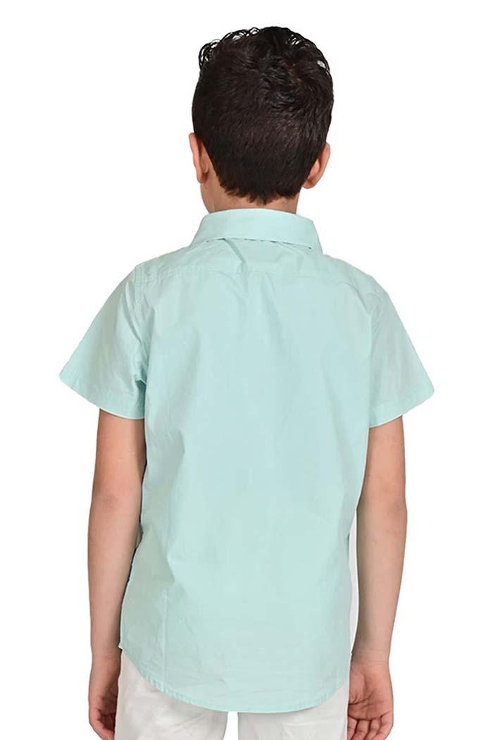 قميص اولاد لون اخضر